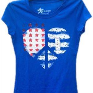 American flag t- shirt